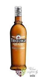 """Trojka """" Caramel """" premium Swiss vodka liqueur 24% vol.    0.70 l"""