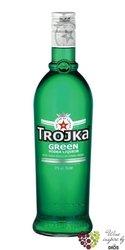 """Trojka """" Green """" premium Swiss vodka liqueur 17% vol.    0.70 l"""