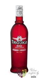"Trojka "" Red "" premium Swiss vodka liqueur 24% vol.    0.70 l"