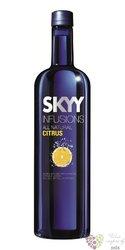 "Skyy infusions "" Citrus "" premium flavored American vodka 37.5% vol.  1.00 l"