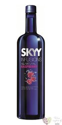 "Skyy infusions "" Raspberry "" premium flavored American vodka 37.5% vol.  1.00 l"