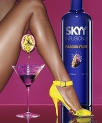 "Skyy infusions "" Passion fruits "" premium flavored American vodka 37.5% vol.  0.70 l"
