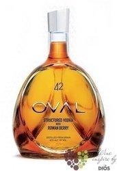 "Oval "" Rowan Berries "" premium Austrian grain flavored vodka 42% vol.    0.70 l"