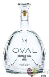 "Oval "" 24 "" structured Based spirit premium Austrian grain vodka 24% vol.    0.05 l"