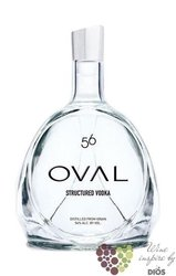 "Oval "" 56 "" structured premium Austrian grain vodka 56% vol.    0.05 l"