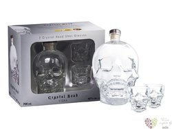 "Crystal Head "" Shot glass edition "" Canadian vodka by Henderson 40% vol.  0.70 l"