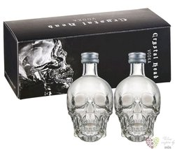 Crystal Head plain triple crystal filtered Canadian vodka by Henderson 40% vol.  4x0.05 l