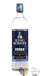 King Robert II triple distilled Scotch vodka by Ian MacLeod 43% vol.    1.00 l