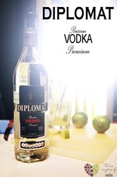 Diplomat premium Russian plain vodka 40% vol.     0.05 l