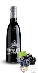 "Royalty "" Black "" premium Dutch vodka 20% vol.    1.00 l"