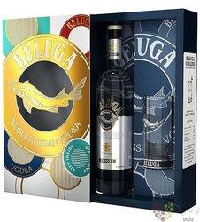 Beluga noble High glass luxury gift box of Ruissian vodka 40% vol.  0.70 l