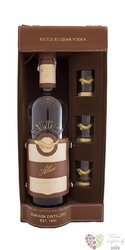 "Beluga "" Allure "" 3glass leather pack noble Russian vodka 40% vol.   0.70 l"
