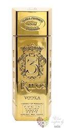 "3 Kilos "" Gold "" ultra premium Dutch vodka 40% vol.  1.00 l"