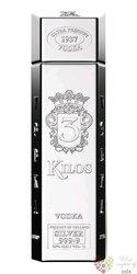 "3 Kilos "" Silver "" ultra premium Dutch vodka 40% vol.  1.00 l"