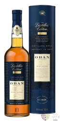 "Oban 1999 "" the Distillers edition "" double matured single malt Highland whisky43% vol.    0.70 l"