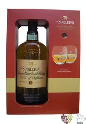 Singleton of Dufftown aged 12 years 2glass pack Speyside Single malt whisky 40%vol.    0.70 l
