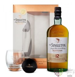 Singleton of Dufftown aged 12 years glass set Speyside single malt whisky 40% vol.  0.70 l