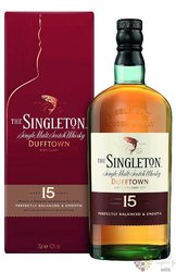 Singleton of Dufftown aged 15 years Speyside single malt whisky 40% vol.    0.70 l