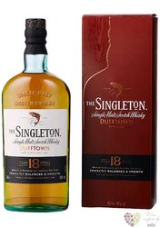 Singleton of Dufftown aged 18 years single malt Speyside whisky 40% vol.    0.70 l