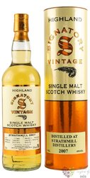 "Strathmill 2007 "" Signatory Vintage "" aged 12 years Speyside whisky 43% vol.  0.70 l"