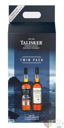 """Talisker """" Twin pack """" single malt Skye whisky 45.8% vol.  2x1.00 l"""