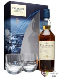 Talisker 10 years old 2glass gift pack single malt Skye whisky 45.8% vol.    0.70 l