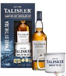 Talisker 10 years old gift set single malt Skye whisky 45.8% vol.  0.20 l