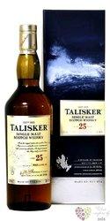 Talisker aged 25 years single malt Skye whisky 45.8% vol.   0.70 l