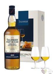 "Talisker "" Port Ruighe "" 2glass pack single malt island of Skye whisky 45.8% vol.   0.70 l"