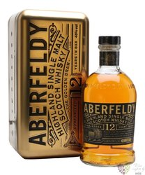 "Aberfeldy "" the Golden Dram "" aged 12 years single malt Highlands whisky 40% vol.  0.70 l"