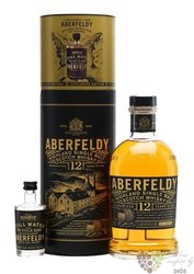 "Aberfeldy "" Limited release "" aged 12 years gift pack single malt Highlands whisky 40% vol.  0.70 l"