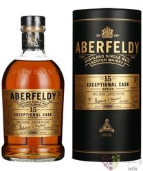 """Aberfeldy Exceptional cask """" Sherry finish """" aged 15 years Highlands whisky 43% vol.  0.70 l"""