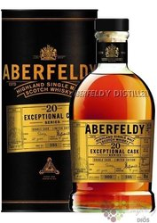 "Aberfeldy "" Exceptional Cask "" aged 20 years single malt Highlands whisky 43% vol.  0.70 l"