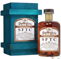 "Ballechin SFTC 2009 "" Oloroso Sherry cask "" aged 10 years Highland whisky 60.3%vol. 0.50 l"