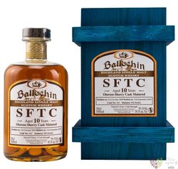 """Ballechin SFTC 2009 """" Oloroso Sherry cask """" aged 10 years Highland whisky 59.1% vol.  0.50 l"""
