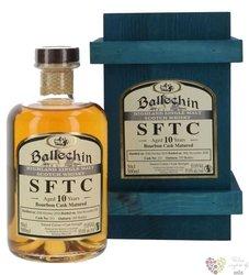 "Ballechin SFTC 2010 "" Bourbon cask "" aged 10 years Highland whisky 55% vol.  0.50 l"