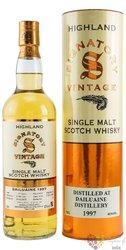 "Dailuaine 1997 "" Signatory Vintage "" aged 21 years Speyside whisky 43% vol.  0.70 l"