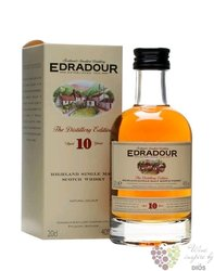 Edradour 10 years old single malt Highland whisky 40% vol.     0.20 l