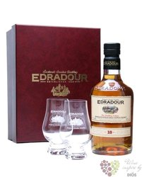 Edradour 10 years old 2glass pack single malt Highland whisky 40% vol.  0.70 l