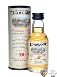 Edradour 10 years old single malt Highland whisky 40% vol.     0.05 l