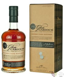 "Glen Garioch "" Sherry Cask Matured "" aged 15 years single malt Highland whisky 53.7% vol.  0.70 l"