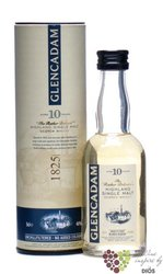 "Glencadam "" Rather Delicate "" aged 10 years single malt Highland whisky 46% vol.     0.05 l"