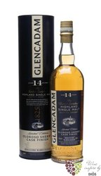 "Glencadam "" Oloroso sherry finish "" aged 14 years single malt Highland whisky 46% vol.     0.70 l"