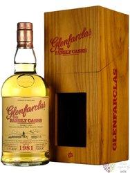 """Glenfarclas 1981 """" Familly cask """" Speyside whisky 43.2% vol.  0.70 l"""