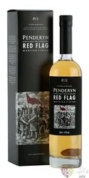 """Penderyn Icons of Wales no.1 """" Red flag """" single malt Welsh whisky 41% vol.  0.70 l"""