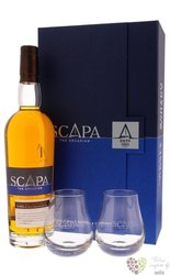 "Scapa "" Orcadian Glansa "" glass pack single malt Orkney whisky 40% vol.  0.70 l"