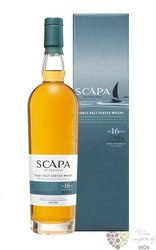 Scapa 16 years old single malt Orkney Island whisky 40% vol.  0.70 l