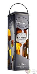 Tamdhu 10 years old metal box single malt Speyside whisky 43% vol.  0.70 l