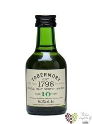 Tobermory 10 years old single malt Mull whisky 40% vol.    0.05 l