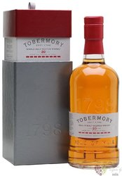 Tobermory 20 years old single malt Mull whisky 46.3% vol.  0.70 l